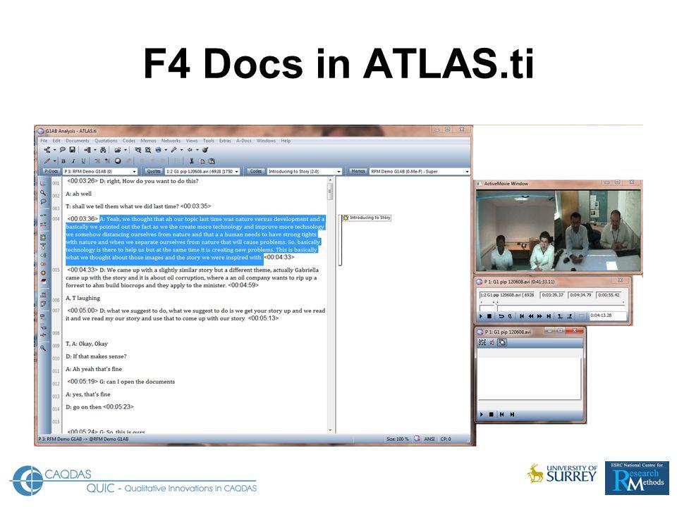F4 Docs in ATLAS.ti