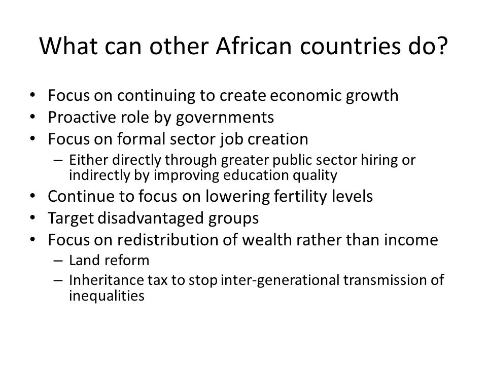 What can other African countries do.