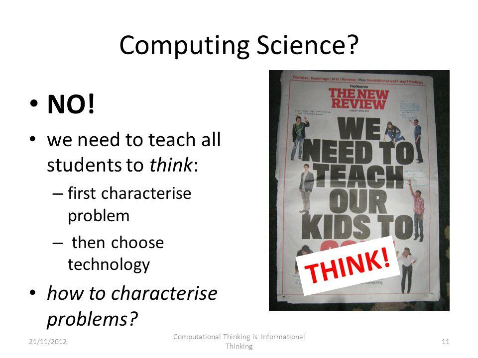 Computing Science. NO.