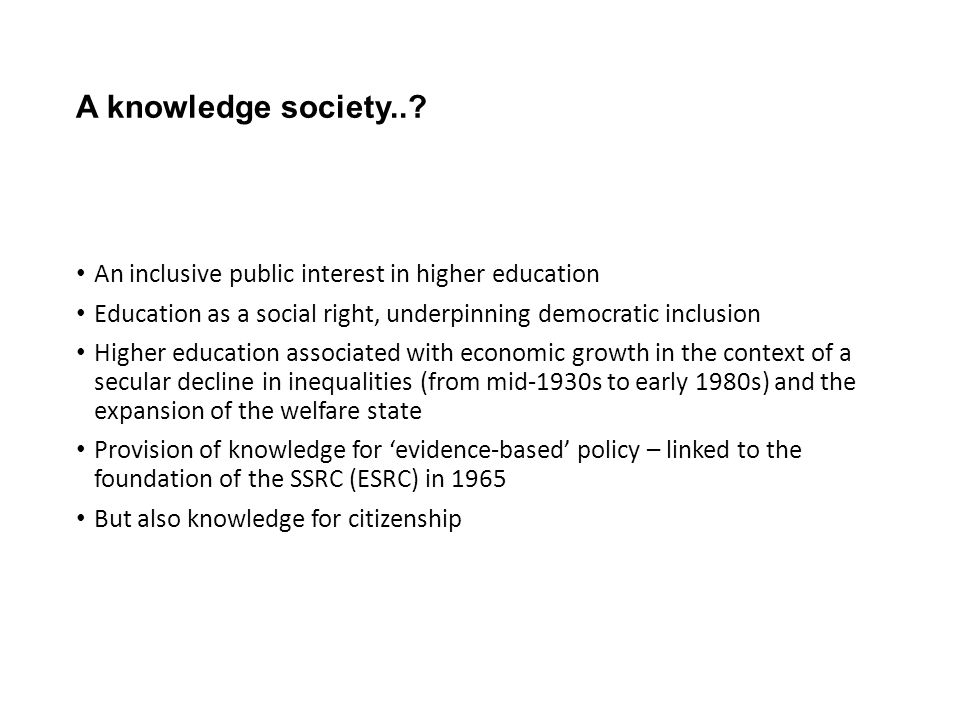 A knowledge society...