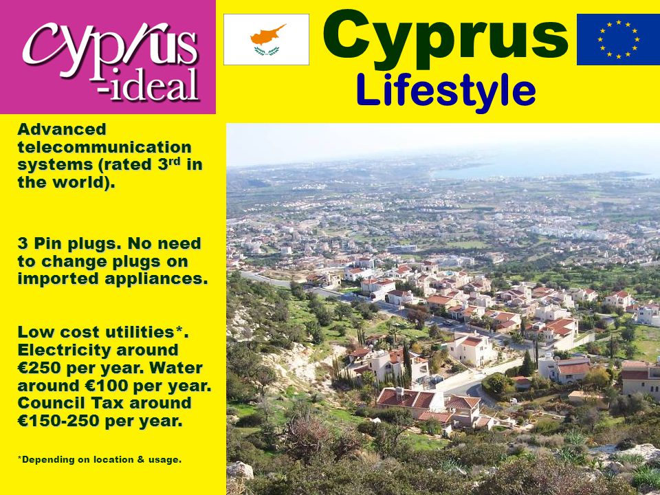 Cyprus Lifestyle 3 Pin plugs. No need to change plugs on imported appliances.