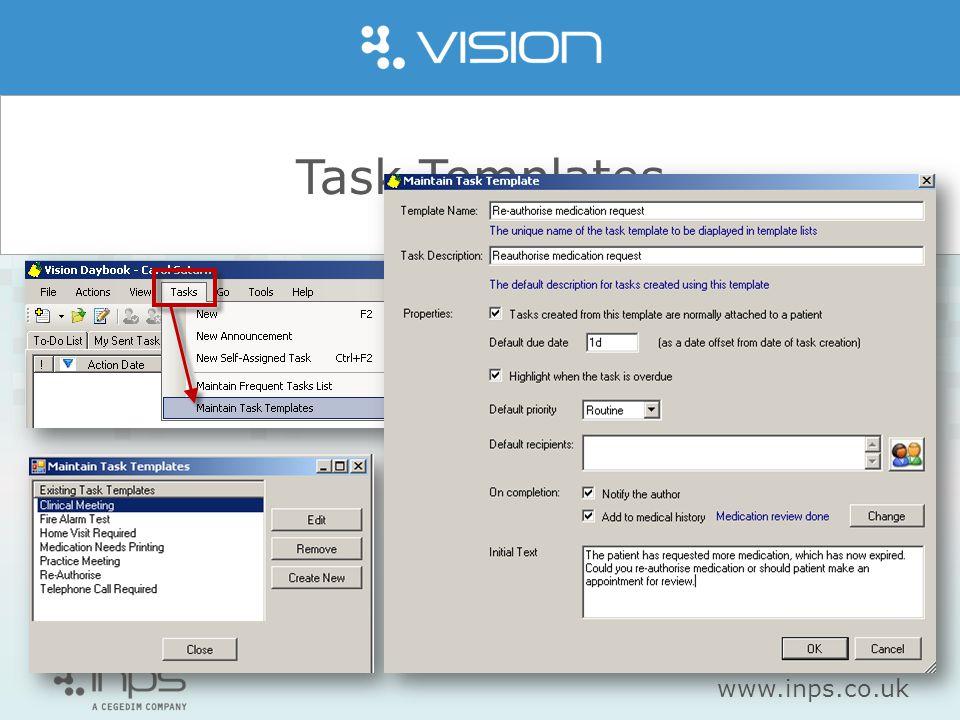 www.inps.co.uk Task Templates