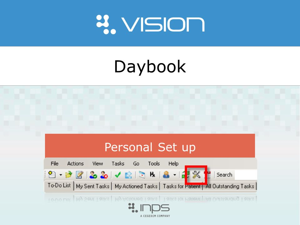 Daybook Personal Set up