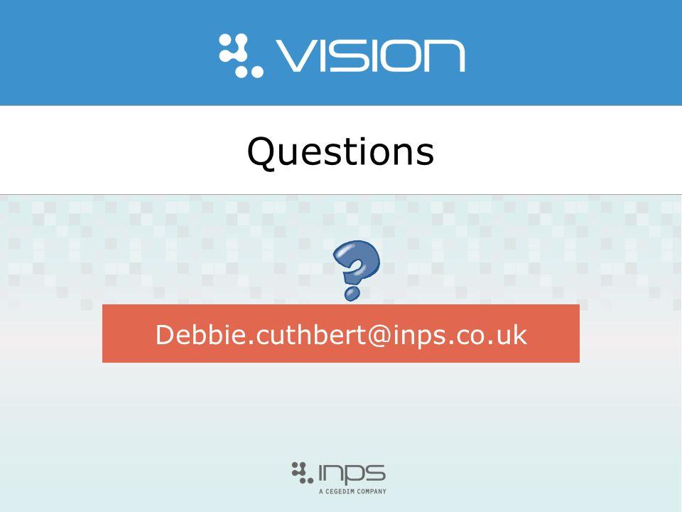 Questions Debbie.cuthbert@inps.co.uk