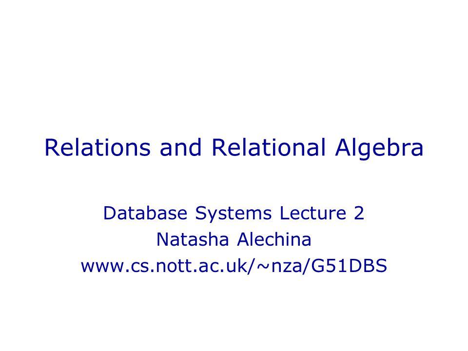 Example: selection  col(3) < 2002 and col(2) = Nolan (R) InsomniaNolan2002 Magnolia Insomnia Anderson1999 Skjoldbjaerg1997 MementoNolan2000 GattacaNiccol1997 R