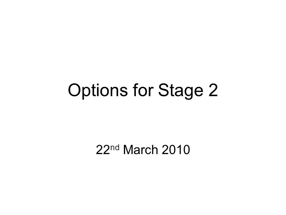 Overview At least 5 compulsory modules –Up to 3 options this year Options not taken in stage 2 usually available in stage 3 –Cannot do too many level I modules Handbooks already available Online module registration on SDS –Closes 2 nd April –Options can be changed later –Must register even if you have 8 compulsory modules
