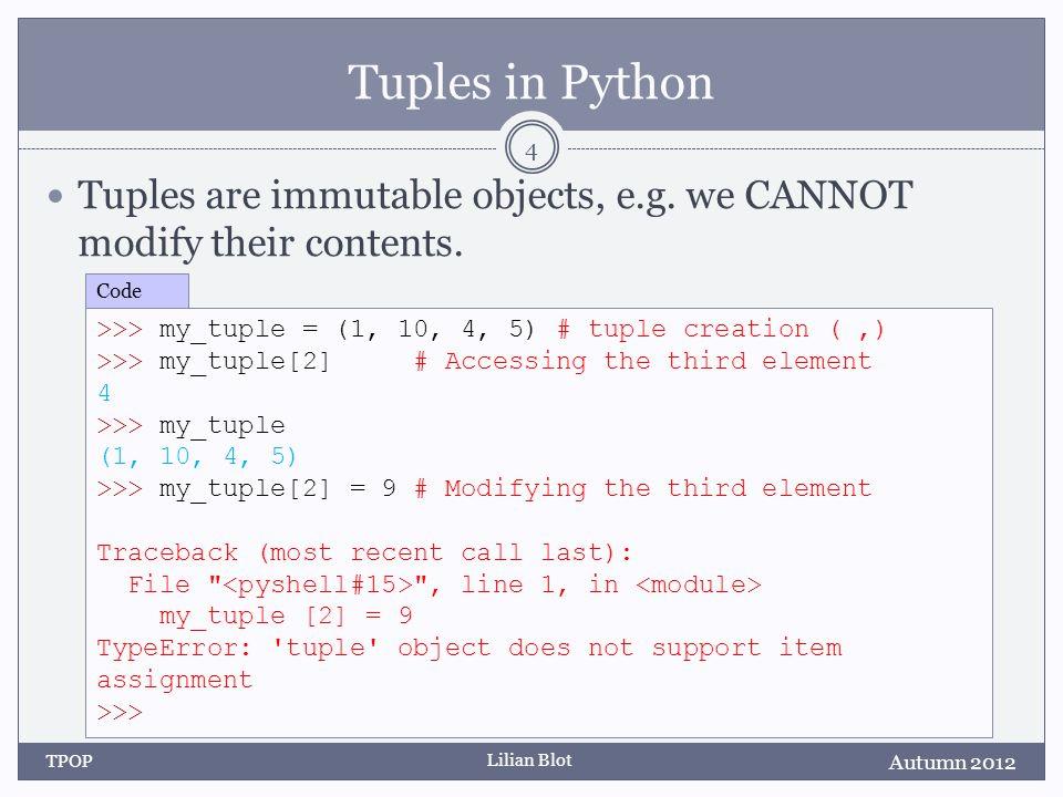 Lilian Blot Swapping Values State Diagram: Autumn 2012 TPOP 15 >>> num_one = 5 >>> num_two = 9 >>> Code num_two num_one 5 9