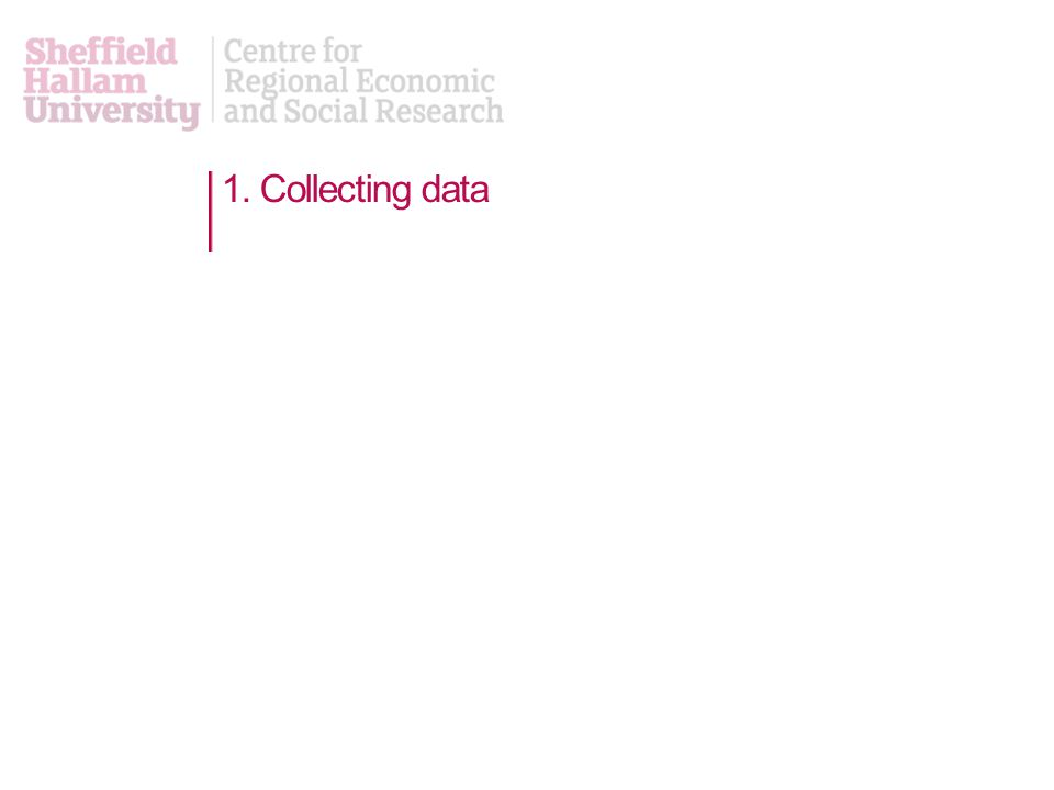 1. Collecting data