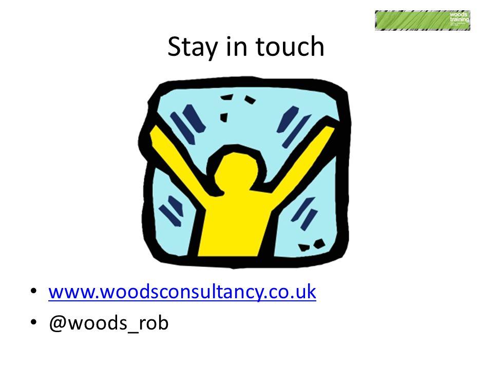 Stay in touch www.woodsconsultancy.co.uk @woods_rob