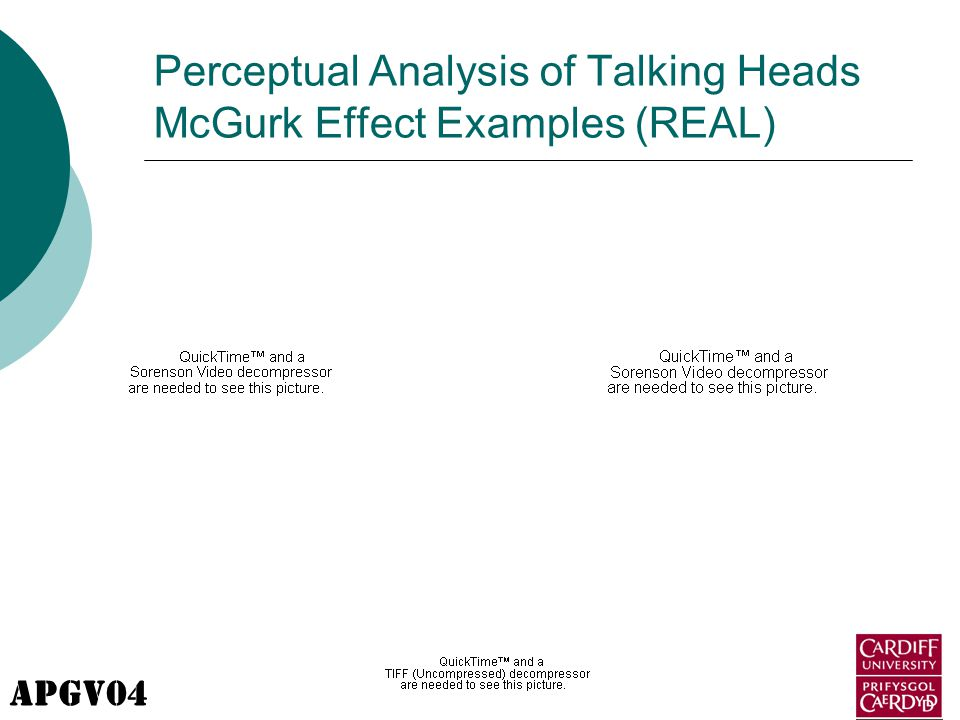 APGV04 Perceptual Analysis of Talking Heads McGurk Effect Examples (REAL)