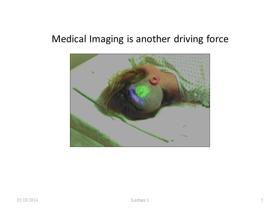 Medical Imaging is another driving force 05/10/2014 Lecture 1 5