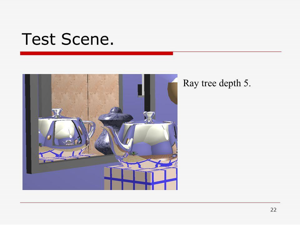 22 05/10/2014 Test Scene. Ray tree depth 5.