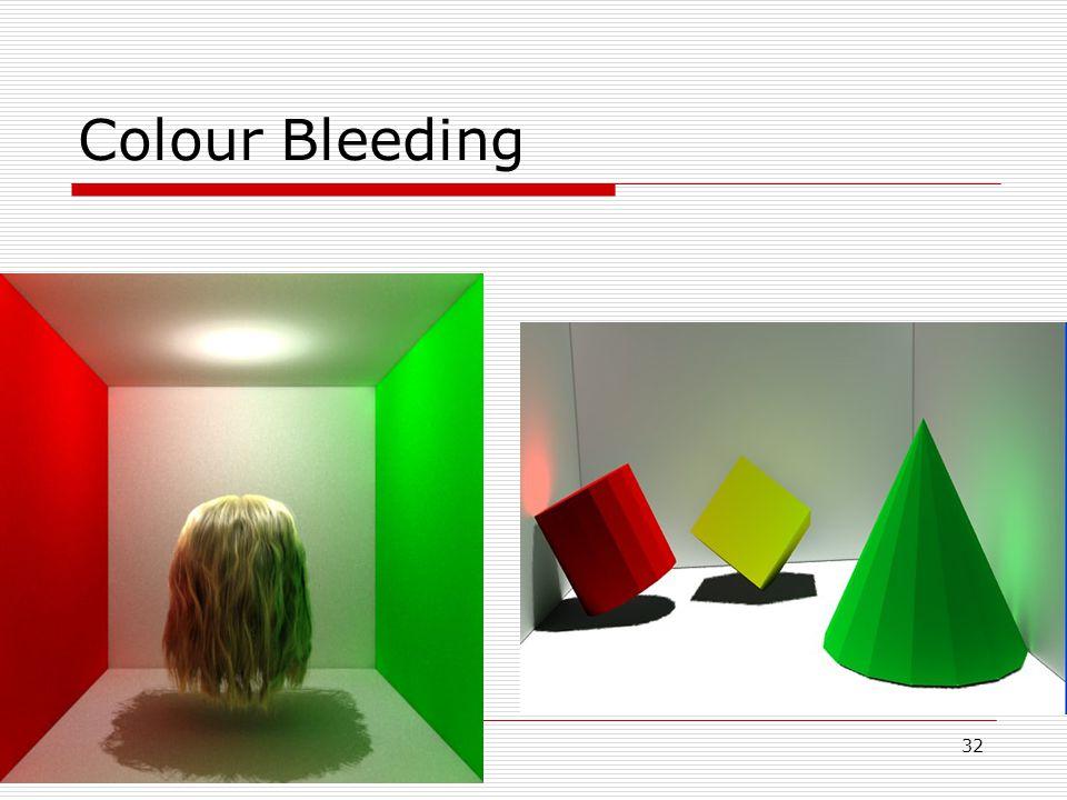 32 05/10/2014 Colour Bleeding