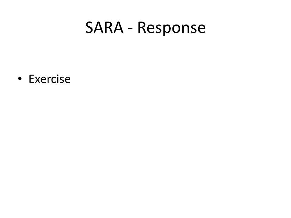 SARA - Response Exercise