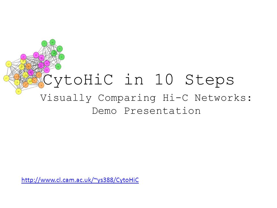 10. Learn more with CytoHiC's user guide
