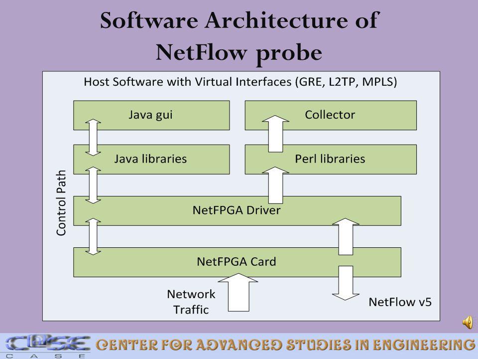 Software Architecture of NetFlow probe