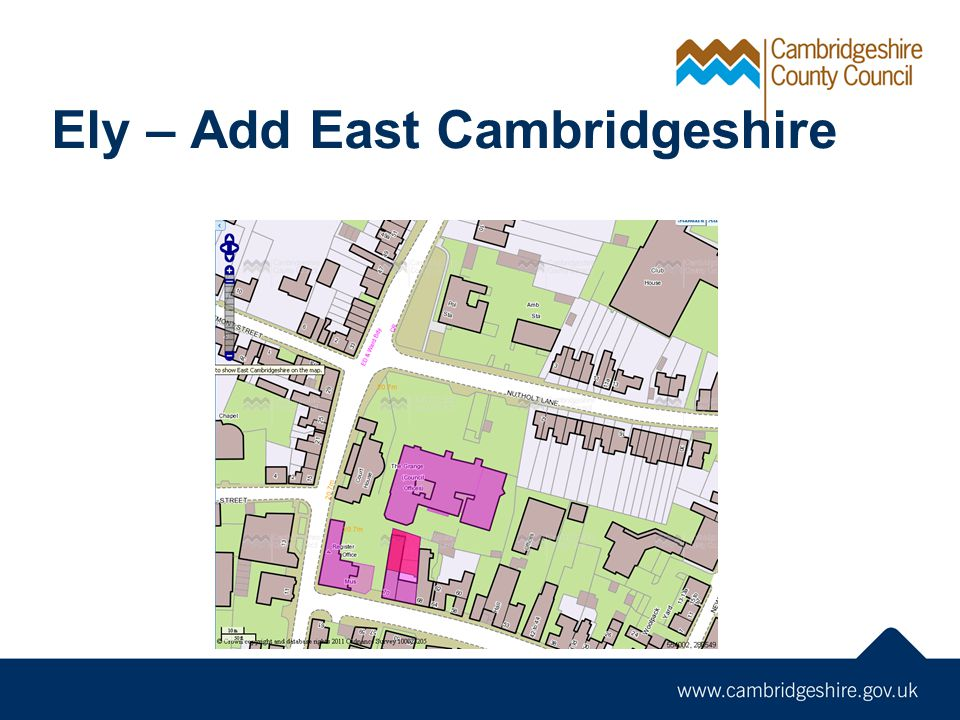 Ely – Add East Cambridgeshire