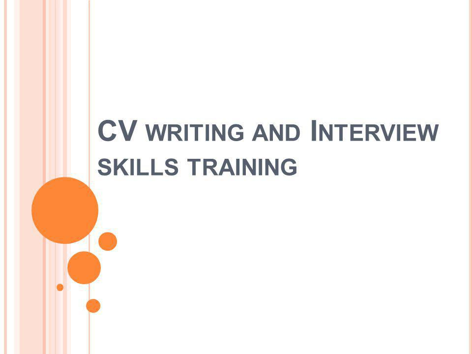 W RITING A CV – ACHIEVEMENTS A CV looks very impressive if it includes a few quantified and relevant achievements.