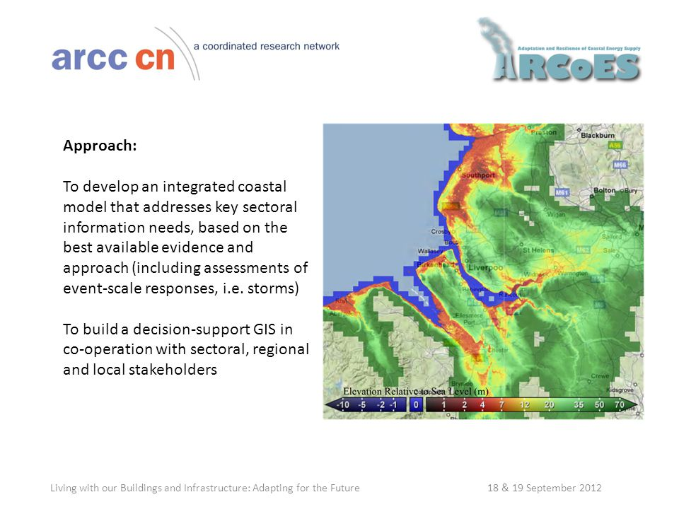 Approach: To develop an integrated coastal model that addresses key sectoral information needs, based on the best available evidence and approach (including assessments of event-scale responses, i.e.