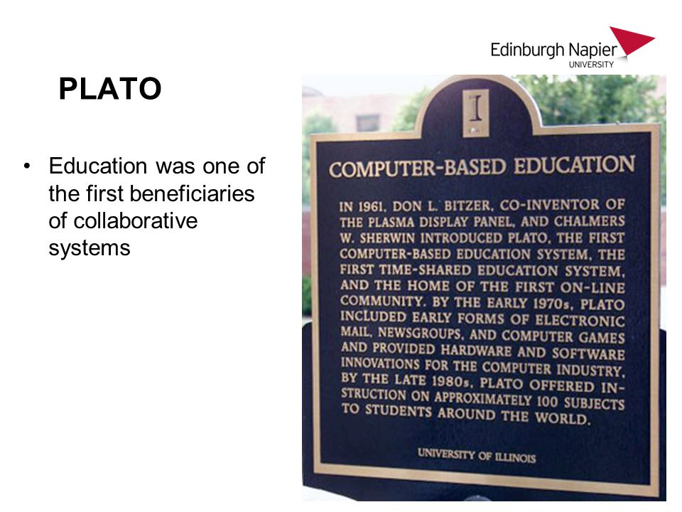 PLATO Education was one of the first beneficiaries of collaborative systems