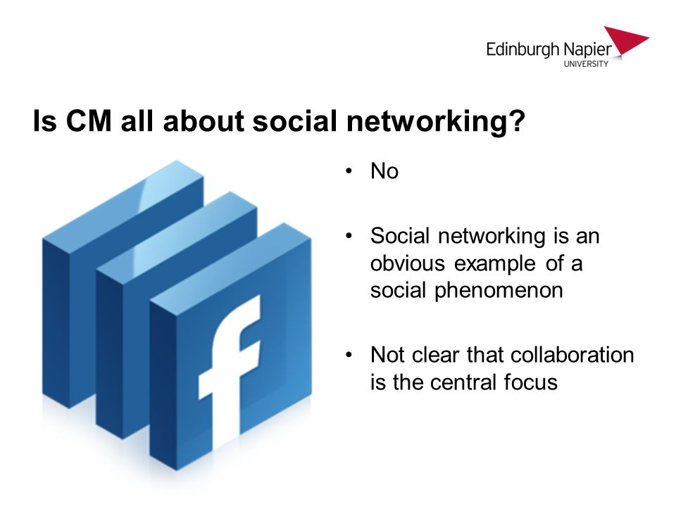 Is CM all about social networking.