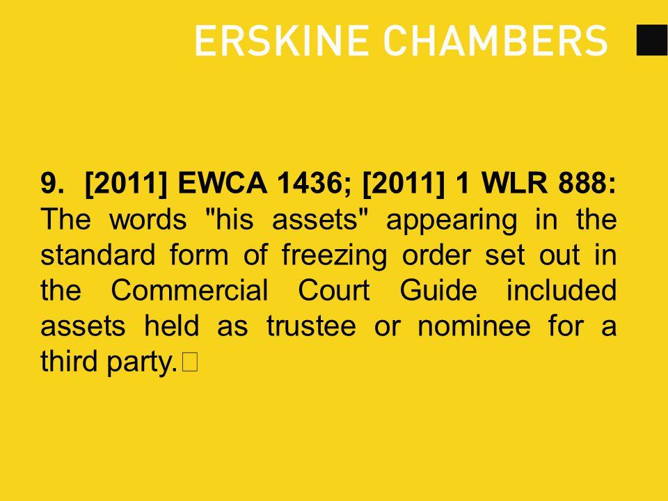9. [2011] EWCA 1436; [2011] 1 WLR 888: The words