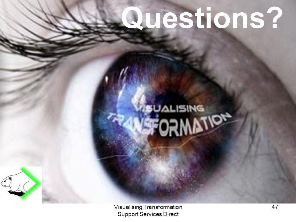 Visualising Transformation Support Services Direct Questions 47