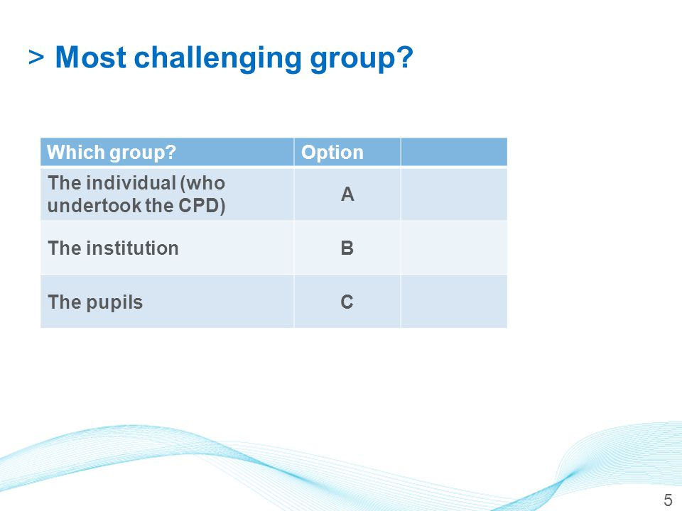 >Getting an overview of the approaches to evaluating CPD 6 SimilaritiesDifferences