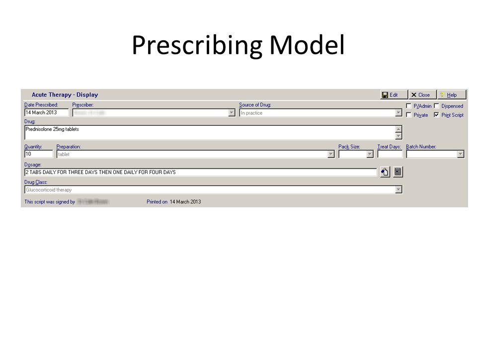 Prescribing Model