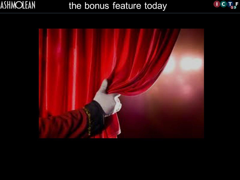 the bonus feature today