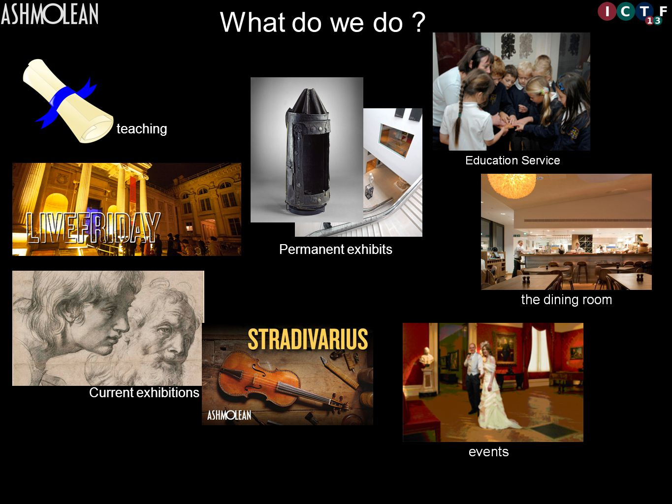What do we do Permanent exhibits Current exhibitions teaching