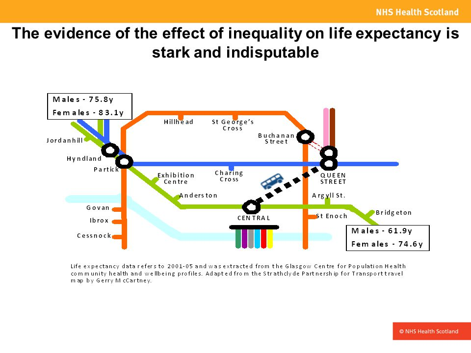 The evidence of the effect of inequality on life expectancy is stark and indisputable