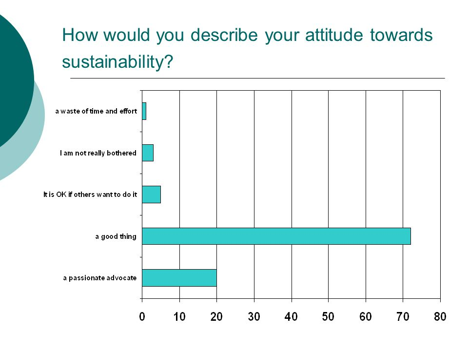 How would you describe your attitude towards sustainability
