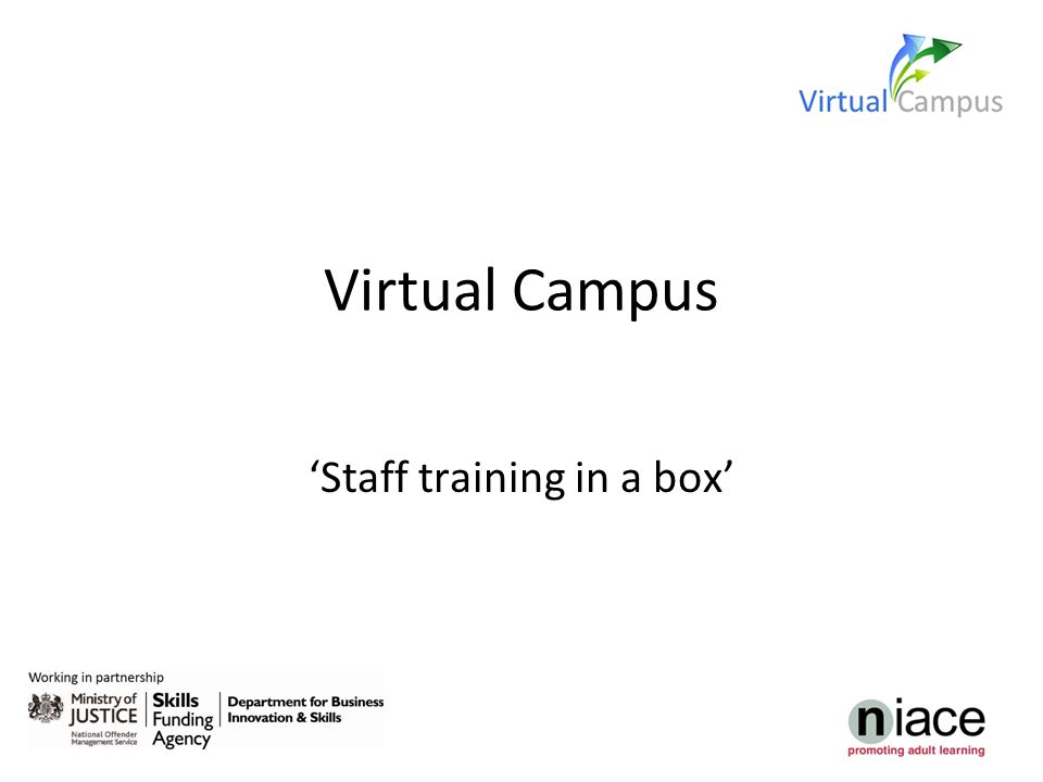 Virtual Campus 'Staff training in a box'