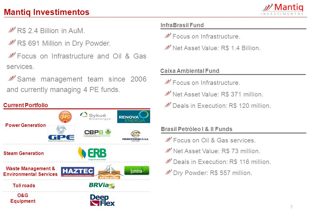 4 InfraBrasil One of the first infrastructure private equity funds raised in Brazil.