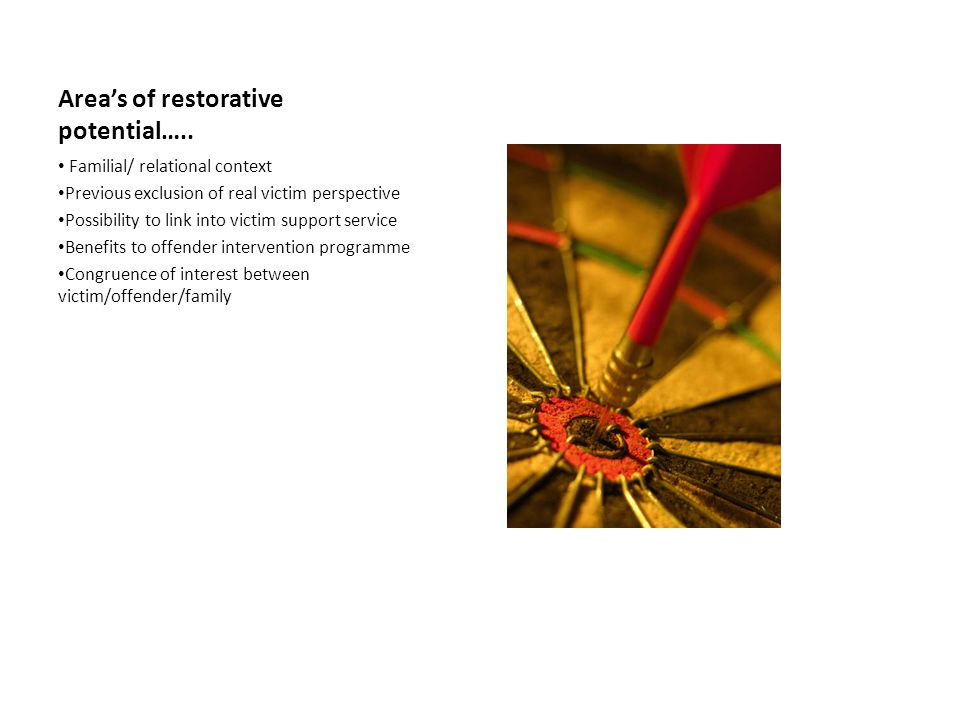 Area's of restorative potential…..