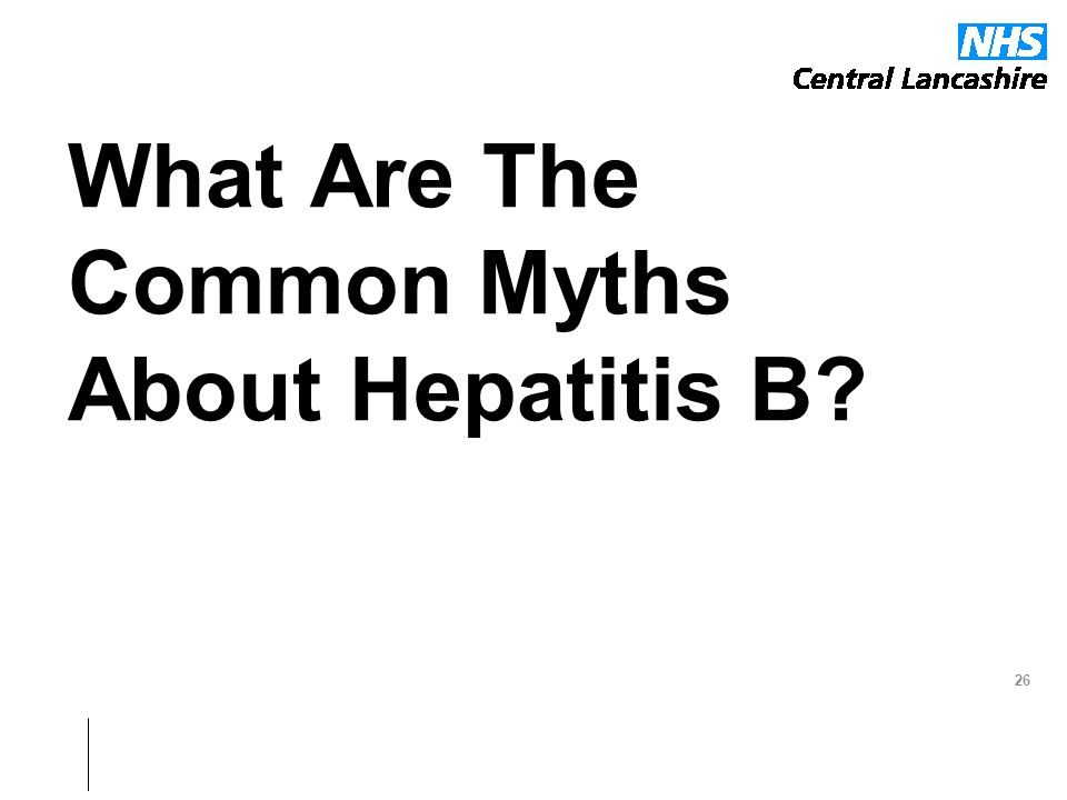 What Are The Common Myths About Hepatitis B? 26