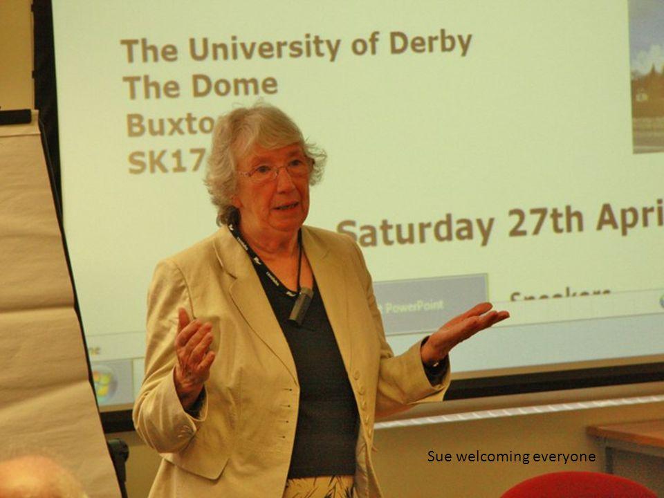 Sue welcoming everyone