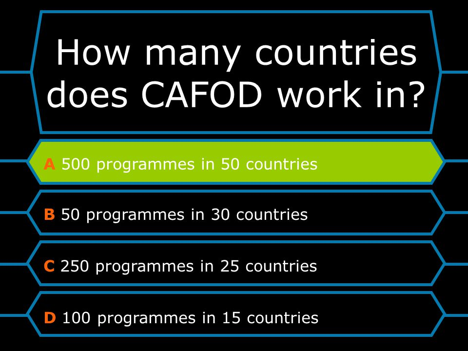 How many countries does CAFOD work in.