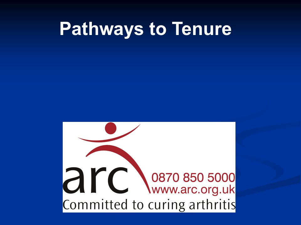 Pathways to Tenure