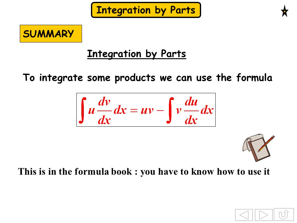 Integration by Parts Solution: What's a possible problem.