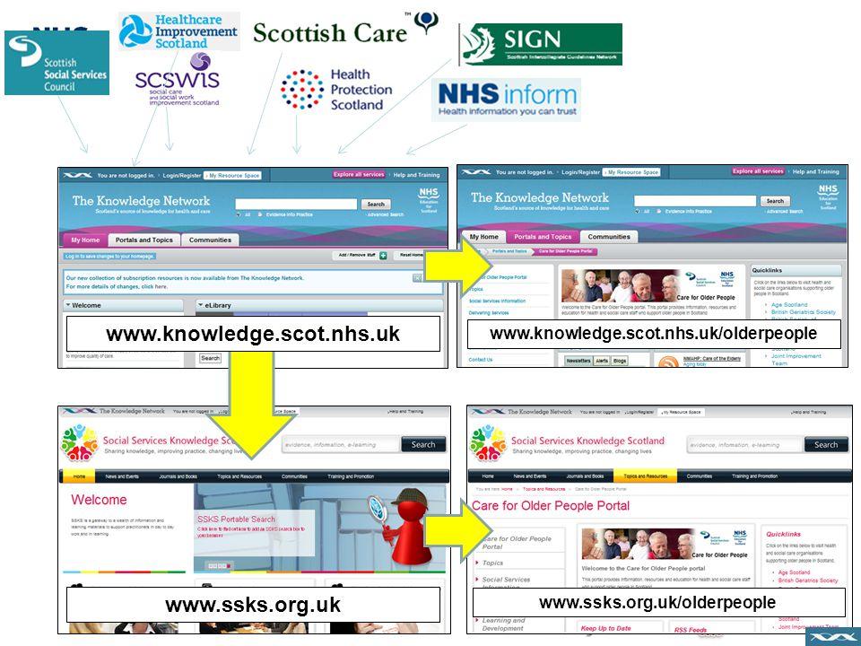 www.knowledge.scot.nhs.uk www.ssks.org.uk www.knowledge.scot.nhs.uk/olderpeople www.ssks.org.uk/olderpeople
