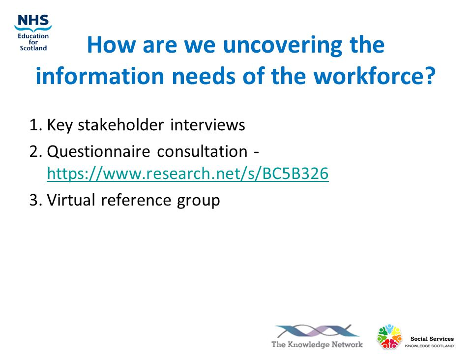 How are we uncovering the information needs of the workforce.