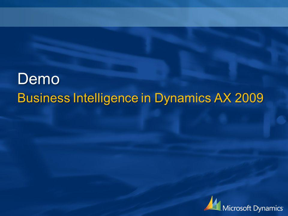 Demo Business Intelligence in Dynamics AX 2009
