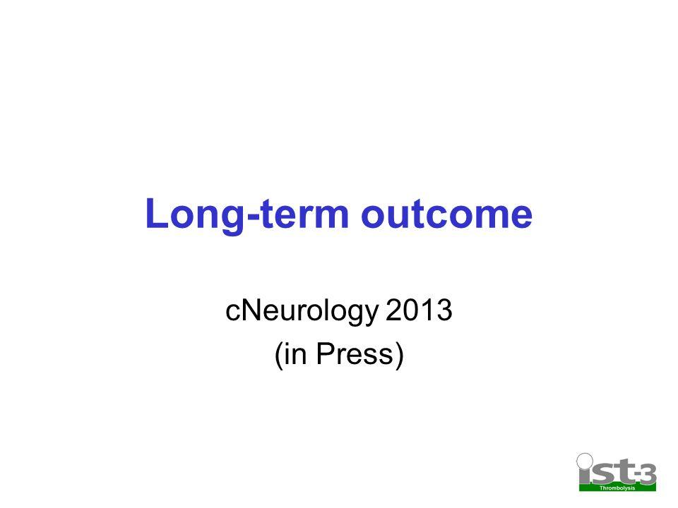 Long-term outcome cNeurology 2013 (in Press)