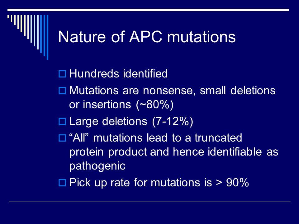 Distribution of APC mutations
