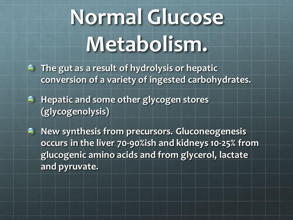 Normal Glucose Metabolism.