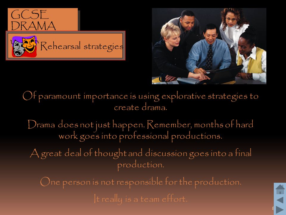 39 Role-play is another strategy which allows an actor to deepen his/her understanding of the character.