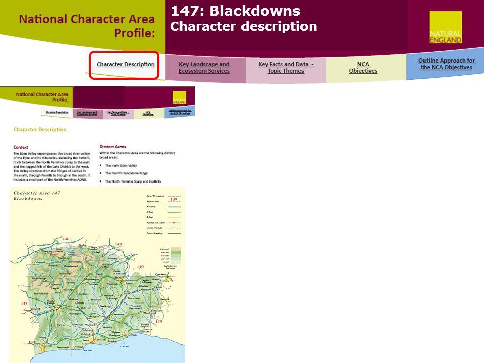 147: Blackdowns Character description