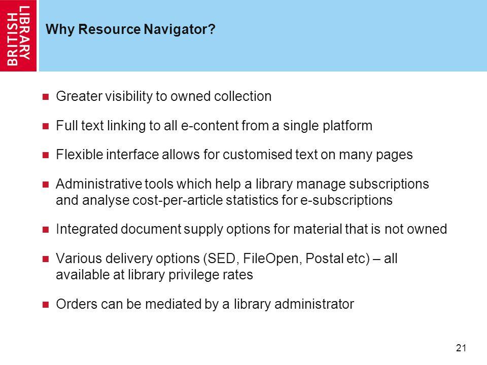 21 Why Resource Navigator.